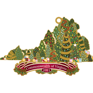 The Official Virginia History Ornament of 2021